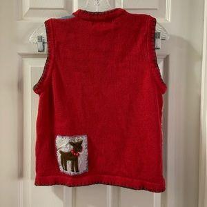 Victoria Jones Woman Sweaters - Victoria Jones Petites Christmas Patchwork Vest PM